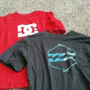 DC shirt and Billabong shirt boys m and boys L